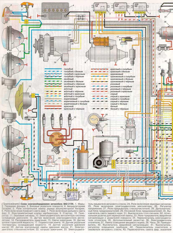 электрическая схема ключа зажигания ваз 2106